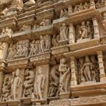Detail d'un temple de Khajurâho